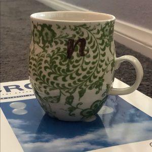 "Anthropologie Mug letter ""N"""
